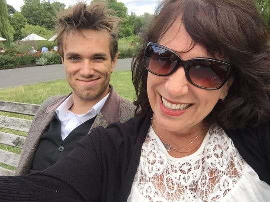 Sawyer and his mom on a trip this summer in London.