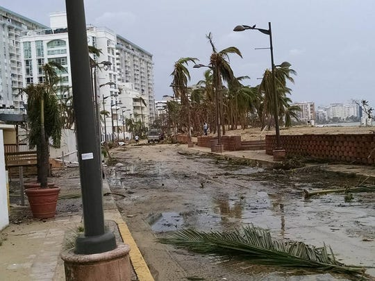 Damage from Hurricane Maria seen near Diane and Ron