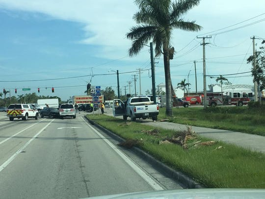 A crash at Immokalee and Livingston roads caused a
