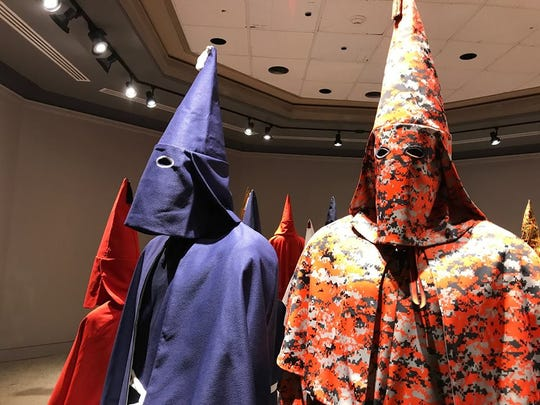 In 2017, the Klan and other hate groups were profiled in a York College of Pennsylvania exhibit. Part of Baltimore artist Paul Rucker's REWIND exhibit was a collection of Ku Klux Klan robes in a variety of fabrics.