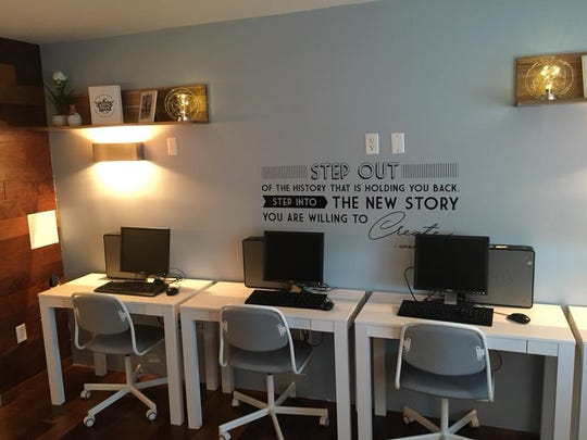 A study area in the learning center at the Phoenix