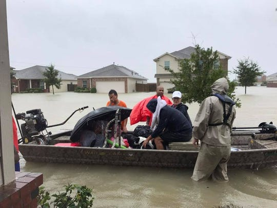 Rescue efforts in Houston