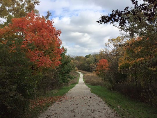 A trail at F.W. Kent County Park in Oxford on Oct.