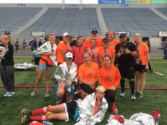 A large group of Shippensburg runners -- Mia's Miracle