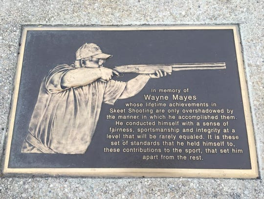 A plaque at the National Skeet Shooting Association