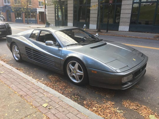 Locals were all eyes for the Ferrari Testarossa that