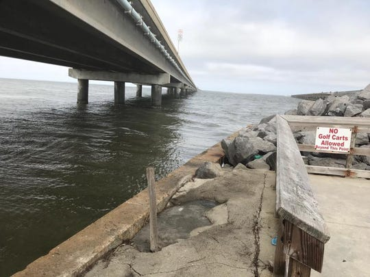 FCSO warns against fishing from the sea wall areas