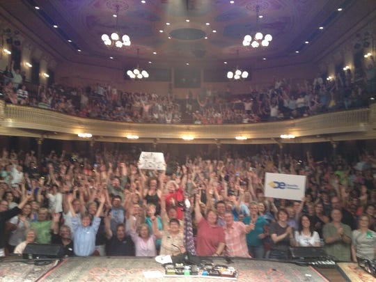 Melissa Etheridge posted this photo of the crowd at