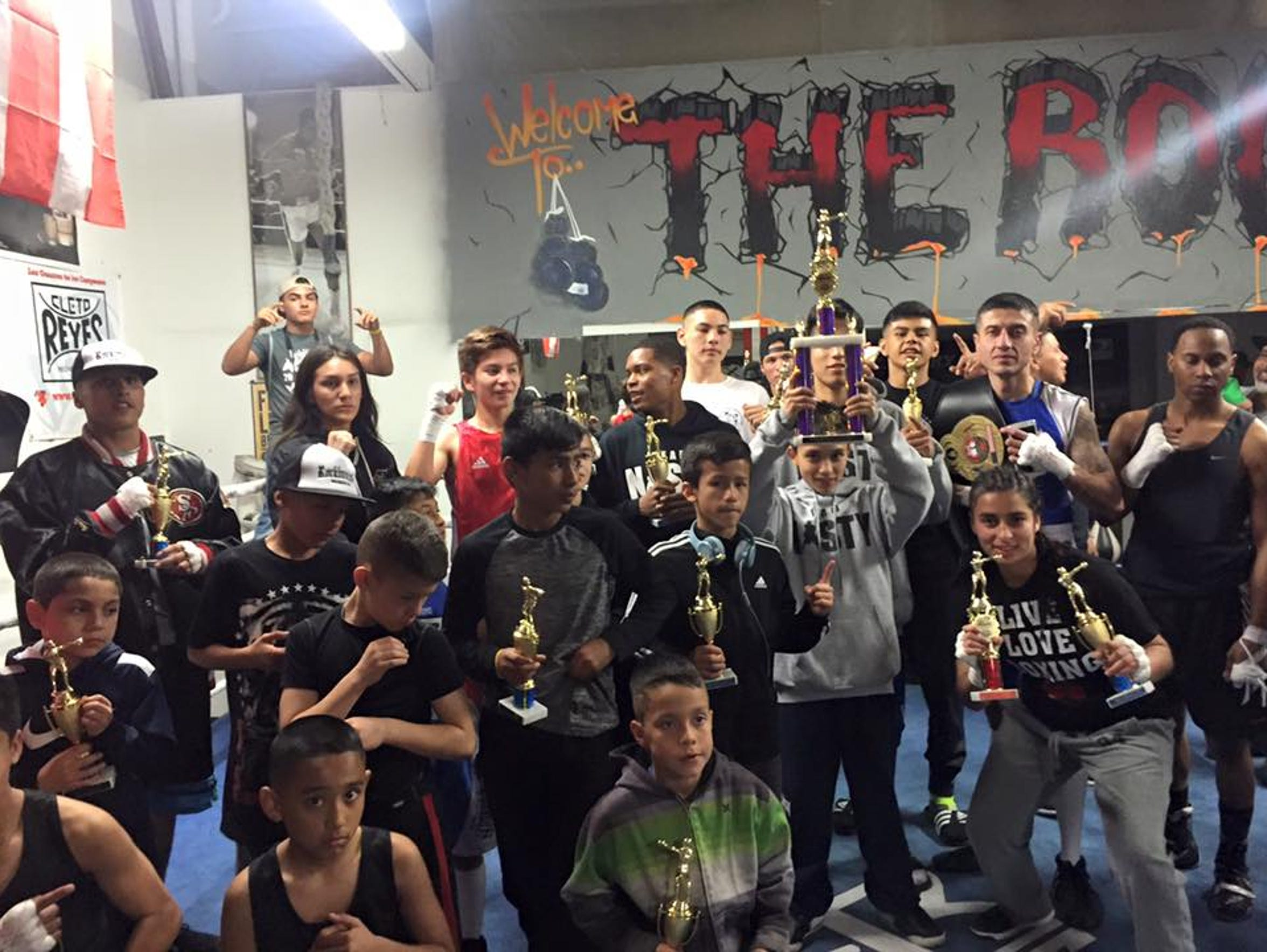 Group picture at Rock Boxing in Salinas.