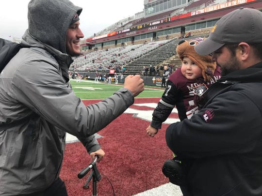 Troy Ross, 3, and his father Wes of Great Falls met