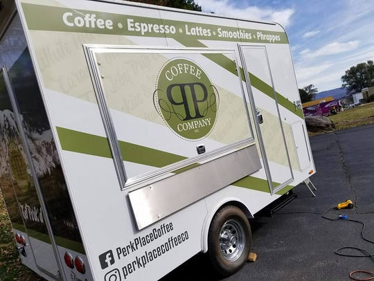 The new mobile unit for Perk Place Coffee Company.