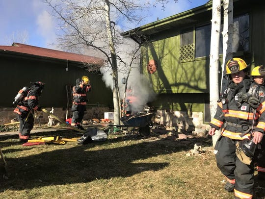 Loveland Fire Rescue Authority crews extinguished a