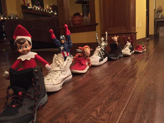 And Elf on the Shelf shoe parade.