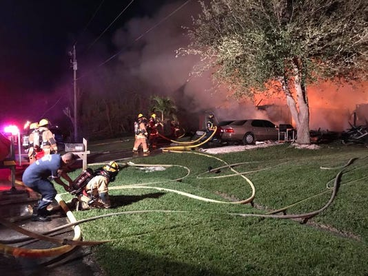 Fire ravages home on Southwest Monterrey Lane