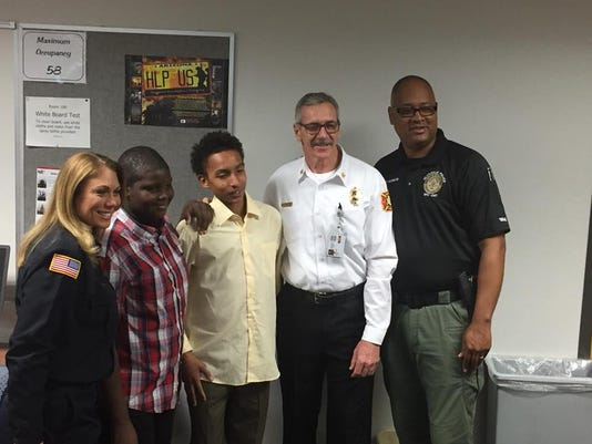 Glendale fire and police honor teens