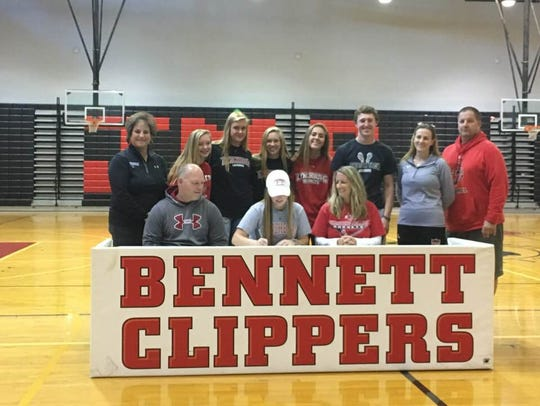 Dara Gregory will play lacrosse at Lynchburg after