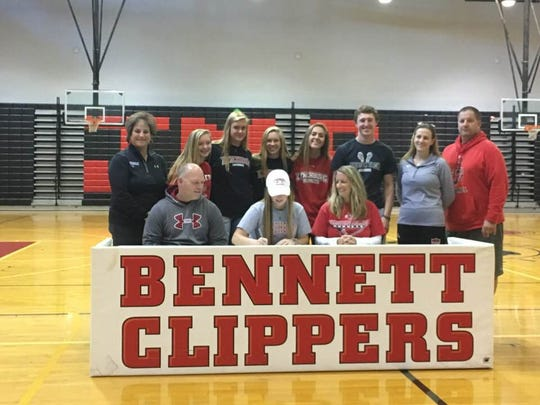 Dara Gregory will play lacrosse at Lynchburg after she graduates.