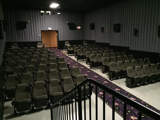 The former Theater 14 at Movies at the Midway last year before it was demolished along with Theater 13 to create The Cube.