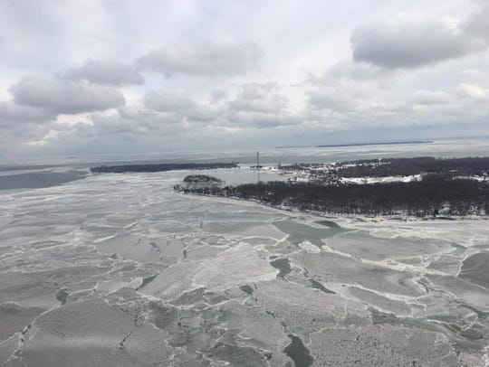 A view from Dustin Shaffer's air taxi flying over South