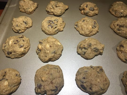 These gluten-free ricotta chocolate chip cookies with hazelnut flour and cashews were a snow day favorite at Roberta Kellam's home in Franktown, Virginia during a blizzard on Thursday, Jan. 4, 2018.