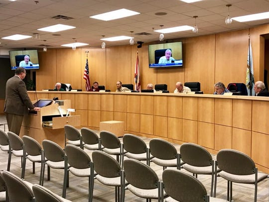 Lee Niblock, Marco Island's new city manager, addresses
