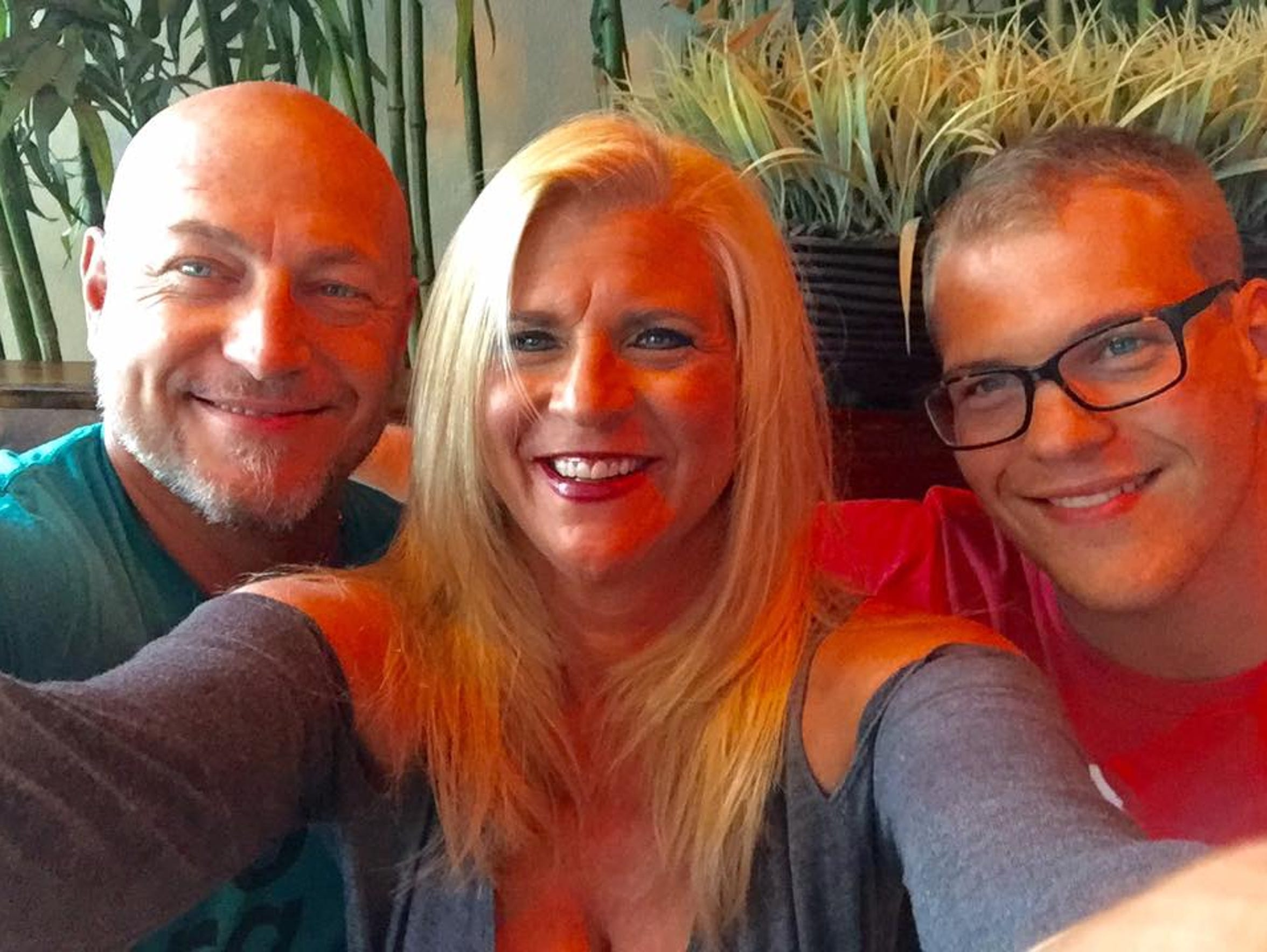 Pamela Knight with her husband, Daniel, and son, Connor.