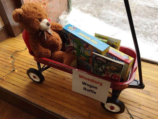 The wagon raffle will be held in time for Valentine's Day.
