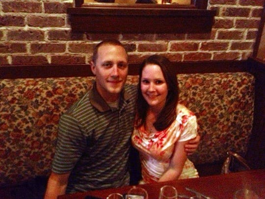 Briana and Kyle Kunau dine at Bisetti's Ristorante.
