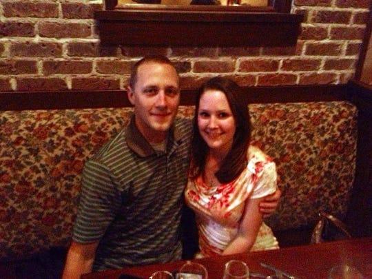 Briana and Kyle Kunau dine at Bisetti's Ristorante.