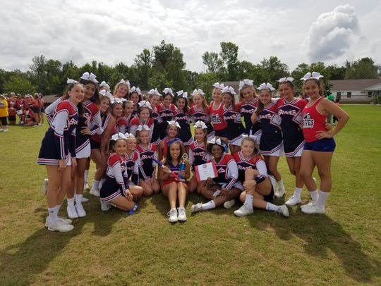 JV Team Winning 2nd Place and taking home a Spirit Stick.