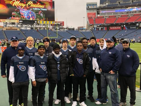 The Tennessee Titans Flag Football Team was able to