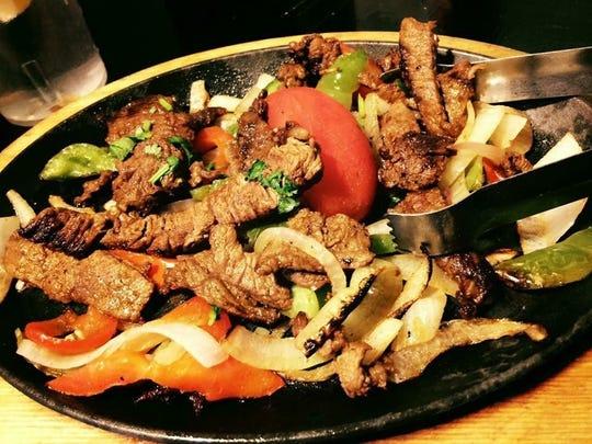 The carne asada fajitas at Yaya's Mexican Bar and Grill