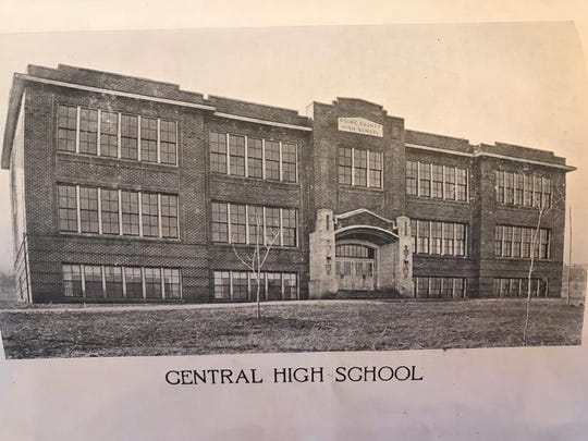A picture of Cocke County High School before the school moved into a new facility in 1963.
