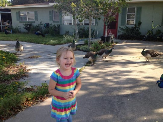 My niece Khloe in the Harbor Heights neighborhood in