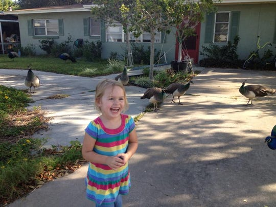 My niece Khloe in the Harbor Heights neighborhood in Cape Canaveral. We have family who own a home there.
