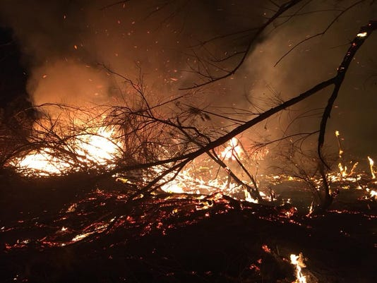 Pinal County Brush Fire