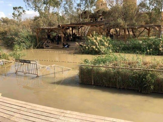 The traditional baptismal site of Jesus in the Jordan