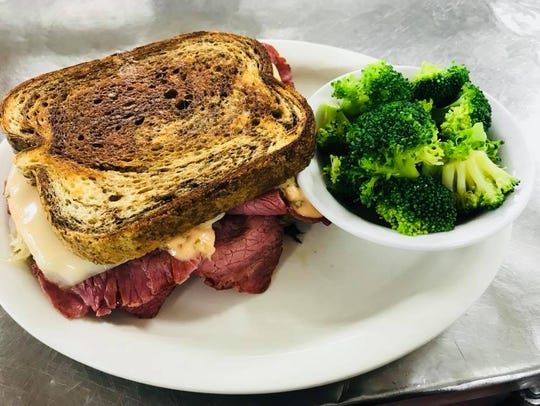 Try a Reuben sandwich and broccoli for lunch or dinner.