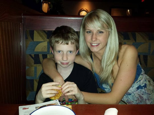 Heather Maples, pictured with younger brother Ryan Hunter.