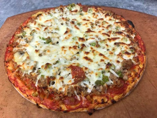 giuseppes original sausage company Giuseppe salad fresh leafy greens tossed with salami, prosciutto, mozzarella & parmigiana, tomatoes, black olives, mushrooms & onions 10 our sandwiches are served with our homemade garlic potato chips or french fries, and a pickle.
