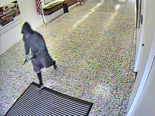 Santa Paula police have released surveillance images from Wednesday's bank robbery.