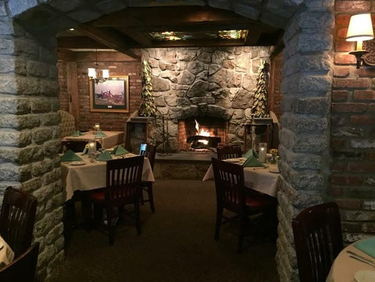 Cozy fireplaces are part of the vintage charm at Clinton's