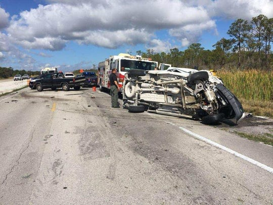 Head-on crash shuts down lanes on State Road 710.