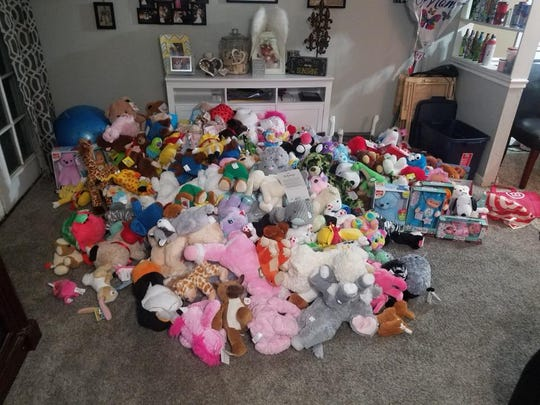 The Bonnema family donated more than 200 stuffed animals to Valley Children's Hospital in Madera.