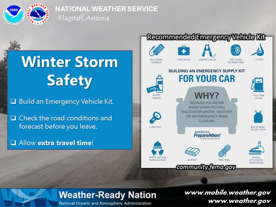 Winter storm safety while driving