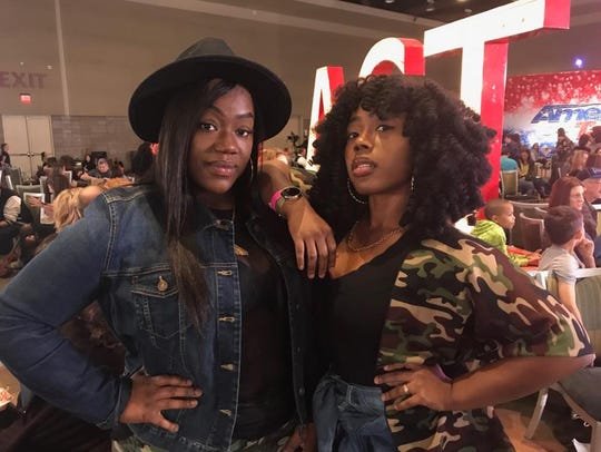 Sisters Latoya Price and Kylelashay Draper practiced