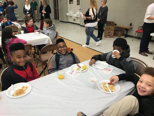 Caze Elementary School kicked off ISTEP testing with a pancake breakfast for kids in grades 3-5.