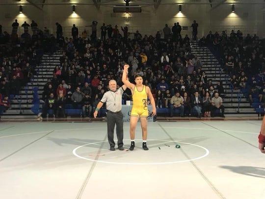 Ben Perez won the 170-pound weight class, the first