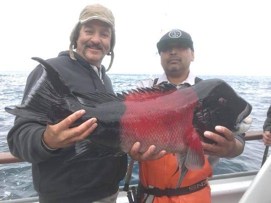 Alan Pillado of Newbury Park caught a 17-pound sheephead on the Aloha Spirit.