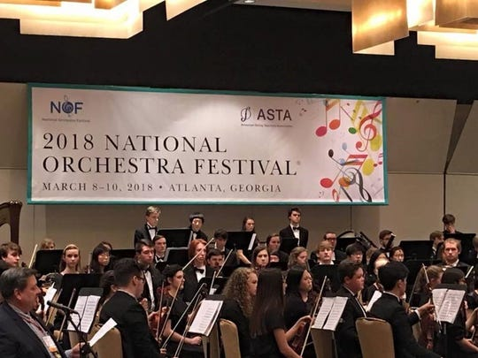 Knoxville Symphony Youth Orchestra performs in Atlanta, where they won 1st Place.